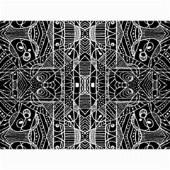 Black And White Tribal Geometric Pattern Print Canvas 18  X 24  (unframed)