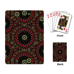 Digital Abstract Geometric Pattern In Warm Colors Playing Cards Single Design by dflcprints