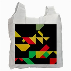 Shapes In Retro Colors 2 Recycle Bag (one Side)