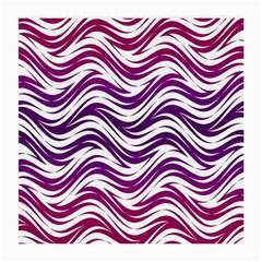 Purple Waves Pattern Glasses Cloth (medium, Two Sides)