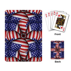 Modern Usa Flag Pattern Playing Cards Single Design by dflcprints