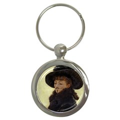 Kathleen Anonymous   James Tissot, 1877 Key Chain (round) by AnonMart