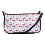 Pink Flamingo Pattern Evening Bag Front