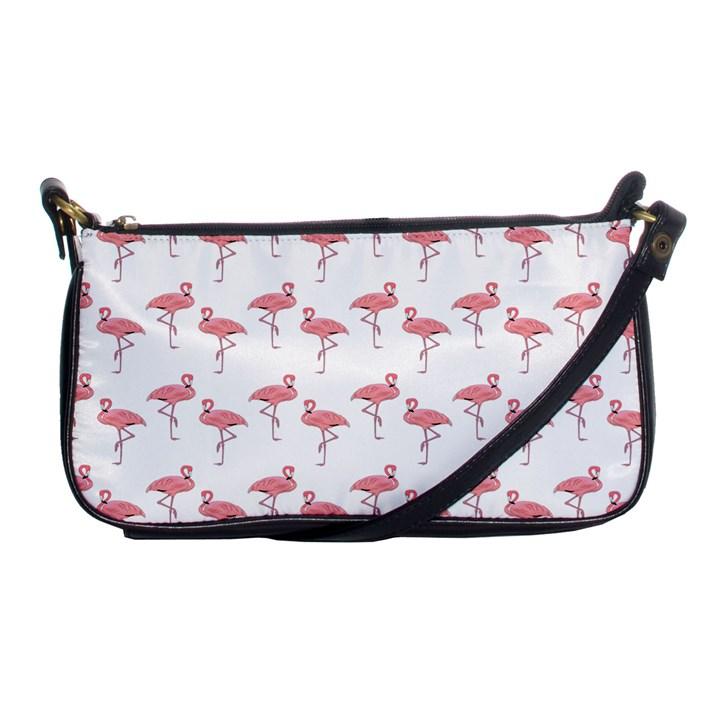 Pink Flamingo Pattern Evening Bag