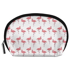 Pink Flamingo Pattern Accessory Pouch (large) by CrypticFragmentsColors