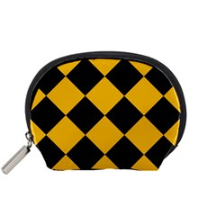 Harlequin Diamond Gold Black Accessory Pouch (small) by CrypticFragmentsColors