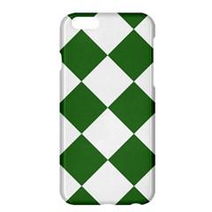 Harlequin Diamond Green White Apple Iphone 6 Plus Hardshell Case