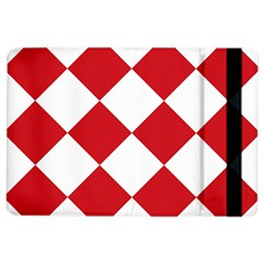 Harlequin Diamond Red White Apple Ipad Air 2 Flip Case by CrypticFragmentsColors
