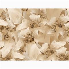 Elegant Floral Pattern In Light Beige Tones Canvas 18  X 24  (unframed)