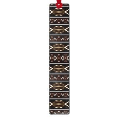Tribal Dark Geometric Pattern03 Large Bookmark by dflcprints
