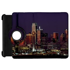 Dallas Skyline At Night Kindle Fire Hd Flip 360 Case by StuffOrSomething