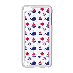 Nautical Sea Pattern Apple Ipod Touch 5 Case (white)