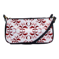 Floral Print Modern Pattern In Red And White Tones Evening Bag by dflcprints