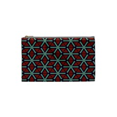 Cubes Pattern Abstract Design Cosmetic Bag (small) by LalyLauraFLM