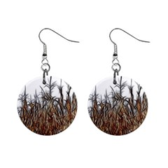 Abstract Of A Cornfield Mini Button Earrings