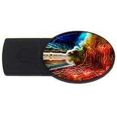 Abstract On The Wisconsin River 2gb Usb Flash Drive (oval)