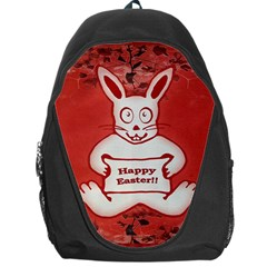 Cute Bunny Happy Easter Drawing Illustration Design Backpack Bag