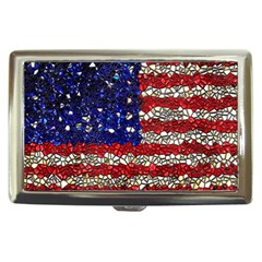 American Flag Mosaic Cigarette Money Case by bloomingvinedesign