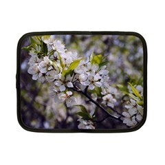 Apple Blossoms Netbook Sleeve (small) by bloomingvinedesign