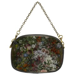 Courbet Bouquet Of Flowers In Vase Chain Purse (two Sided)  by Curioddities