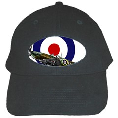 Spitfire And Roundel Black Baseball Cap by TheManCave