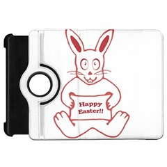 Cute Bunny Happy Easter Drawing I Kindle Fire Hd Flip 360 Case