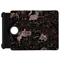Black Cats Yellow Eyes Kindle Fire Hd Flip 360 Case by bloomingvinedesign