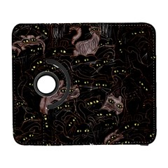Black Cats Yellow Eyes Samsung Galaxy S  Iii Flip 360 Case by bloomingvinedesign