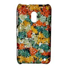 Paint Strokes In Retro Colors Nokia Lumia 620 Hardshell Case by LalyLauraFLM