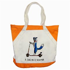 A Dog On A Scooter Accent Tote Bag by retz