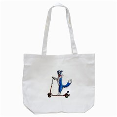 A Dog On A Scooter Tote Bag (white) by retz