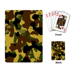 Camo Pattern  Playing Cards Single Design by Colorfulart23