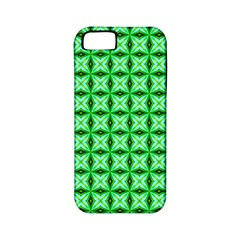 Green Abstract Tile Pattern Apple Iphone 5 Classic Hardshell Case (pc+silicone)