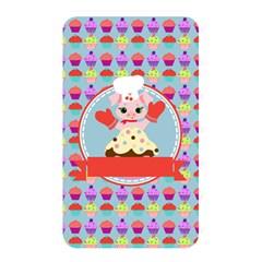 Cupcake With Cute Pig Chef Memory Card Reader (rectangular)