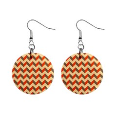 Modern Retro Chevron Patchwork Pattern  Mini Button Earrings by creativemom