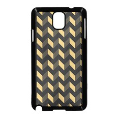 Tan Gray Modern Retro Chevron Patchwork Pattern Samsung Galaxy Note 3 Neo Hardshell Case (black) by creativemom