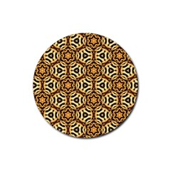 Faux Animal Print Pattern Drink Coasters 4 Pack (round) by creativemom