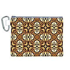 Faux Animal Print Pattern Canvas Cosmetic Bag (xl) by creativemom