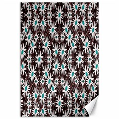 Modern Floral Geometric Pattern Canvas 12  X 18  (unframed) by dflcprints