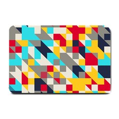 Colorful Shapes Small Doormat by LalyLauraFLM