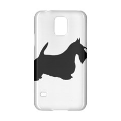 Scottish Terrier Dk Grey Silhouette Samsung Galaxy S5 Hardshell Case  by TailWags