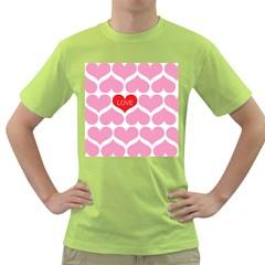 One Love Men s T Shirt (green)