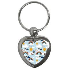Be Happy Repeat Key Chain (heart)