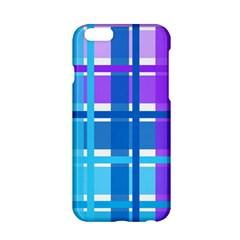 Blue & Purple Gingham Plaid Apple Iphone 6 Hardshell Case