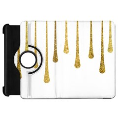 Gold Glitter Paint Kindle Fire Hd Flip 360 Case by Kathrinlegg