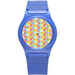 Triangle Pattern Plastic Sport Watch (small) by Kathrinlegg