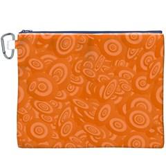 Orange Abstract 45s Canvas Cosmetic Bag (xxxl)