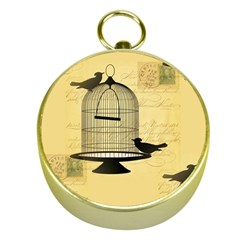 Victorian Birdcage Gold Compass by boho