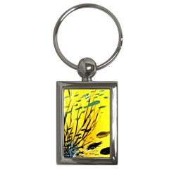 Yellow Dream Key Chain (rectangle) by pwpmall