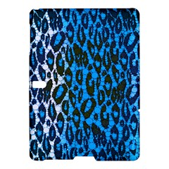 Florescent Blue Cheetah  Samsung Galaxy Tab S (10 5 ) Hardshell Case